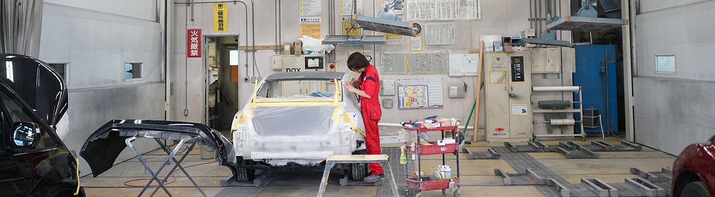 板金・塗装・修理のサービスフロー
